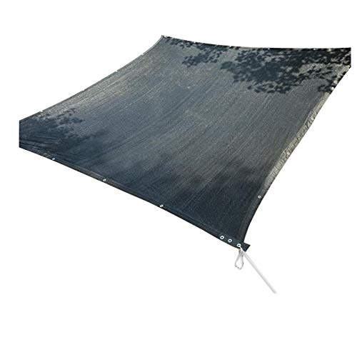 LKLXJ Canvas Shade Canopy, Waterproof Shade Sail Black, With Grommets, Awning For Outdoor, High Tensile Strength, Tear Proof, Super Durable, For Patio Yard Pergola, Easy To Install