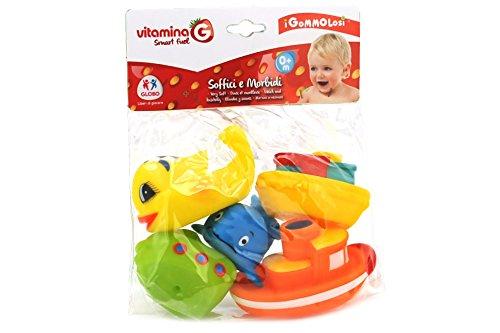 Globo Toys 35826 Vitamina _ G Gommolosi Poisson et Bateaux (5 pièces)