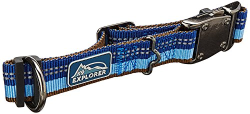 Coastal - K-9 Explorer - Reflective Adjustable Dog Collar, Sapphire, 1' x 12'-18'