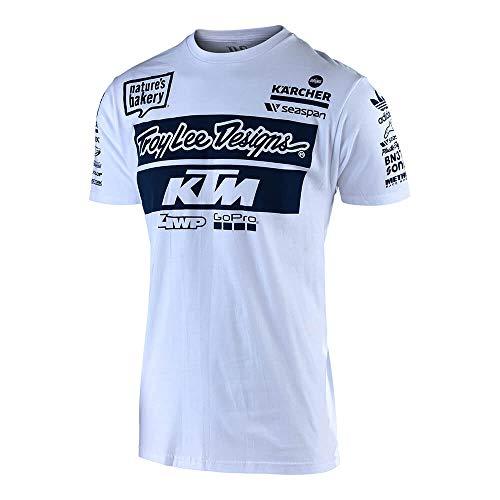 Troy Lee Designs KTM Team T-Shirt für Erwachsene L weiß