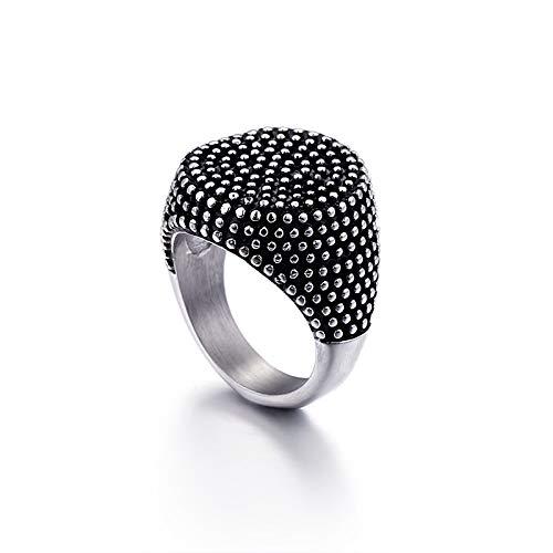 ASEDRF Arbeiten Sie Edelstahl Retro Ring Herren-Ring Titan Stahl Schmuck Ring,8