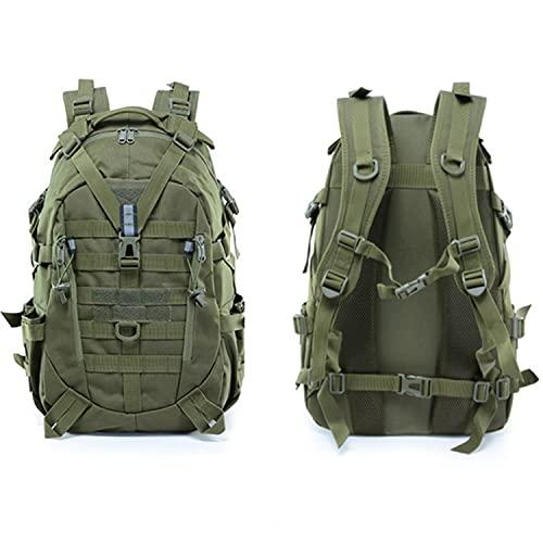 New Militär Rucksack Taktischer Rucksack wasserdicht Wanderrucksack Survival Rcksack 30-35L für Molle System rucksack herren Erwachsenenrucksack 1057 Grün
