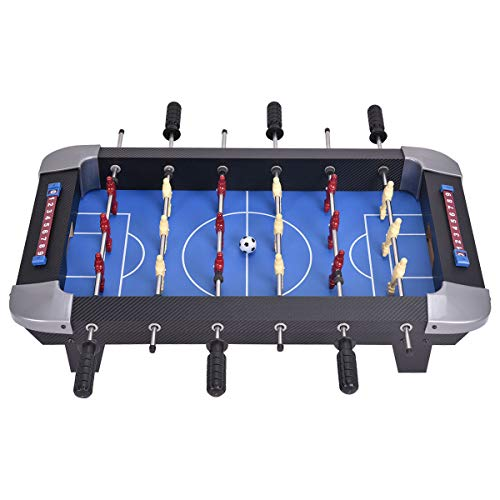Why Choose Tabletop Soccer Game + Accessories Includes Two Soccer Balls & Scorekeepers, 6 Rows, 18 P...