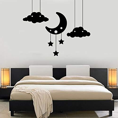 Tianpengyuanshuai muursticker vinyl wolk ster maan slaapkamer romantische decoratie van het huis kinderdagverblijf kinderkamer wandkamer 63 x 75 cm