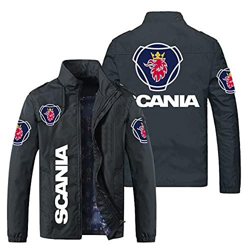 Men's Sweatshirt Jacket 3D SCANIA Printed Casual Stand Collar Long Sleeve Jacket Zipper Fashion...