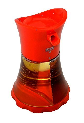 Kuhn Rikon olie/azijn dispenser rood, eenvoudig en stijlvol op te bergen! Met twee gescheiden gebieden individueel te vullen.