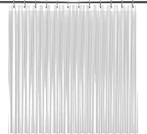 LiBa Mildew Resistant Anti-Microbial PEVA 8G Shower Curtain Liner