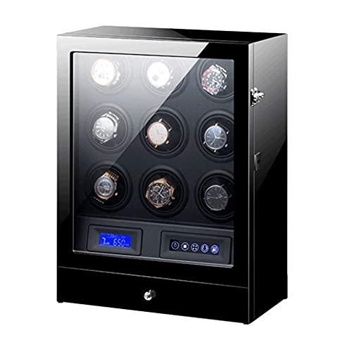 Cajas giratorias para Relojes Reloj automático WindeBox 9 Pantalla LCD Control Pantalla...
