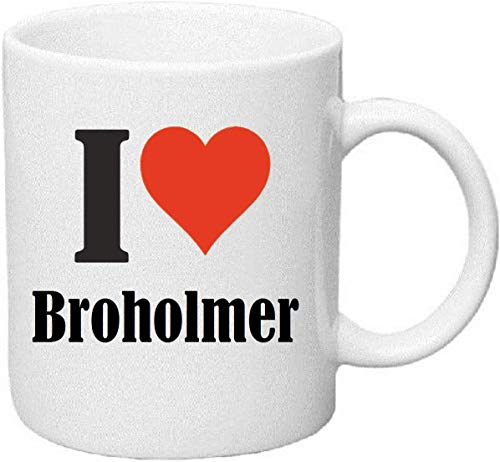 Coffee Mug I Love Broholmer Tea Cup Ceramic - Height: 9 cm - Diameter: 8 cm - Volume: 330ml The Ideal Gift for Work Colleagues, Partner or Even Yourself