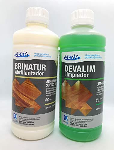 QUIDE Deva - Devalim Limpiador parquet 1 L + Brinatur Abrillantador parquet...