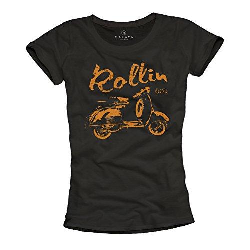 Camisetas Ciclomotor Mujer - Rollin 60s
