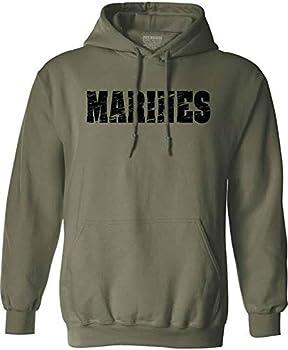 Joe s USA Vintage Marine Green Hoodies- Hooded Sweatshirt-5X-Large