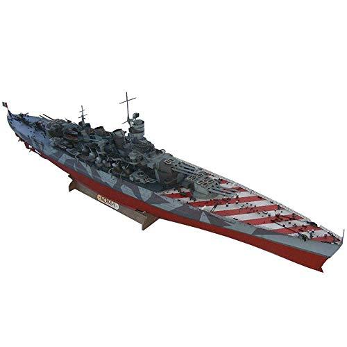 1yess Puzzle di Carta Militare Modello Giocattoli, 1/200 Scala Roma Italia Battleship Adulti Giocattoli e Regali, 47inch