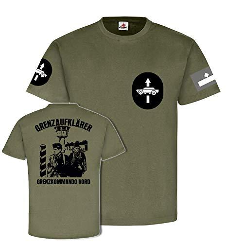 Feldwebel Grenzaufklärer Kommando Nord DDR NVA Soldat T Shirt #20192, Größe:XXL, Farbe:Oliv