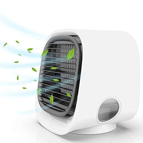 Mini Aire Acondicionado Portátil,Mini Enfriador de Aire Portátil, Mini Enfriador Portátil USB, Aire Acondicionado Portátil con 3 Velocidades, para el Hogar, Oficina, Automóvil, etc.