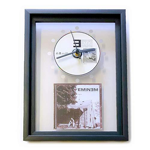 EMINEM - The Marshall Mathers LP: GERAHMTE CD-WANDUHR/Exklusives Design