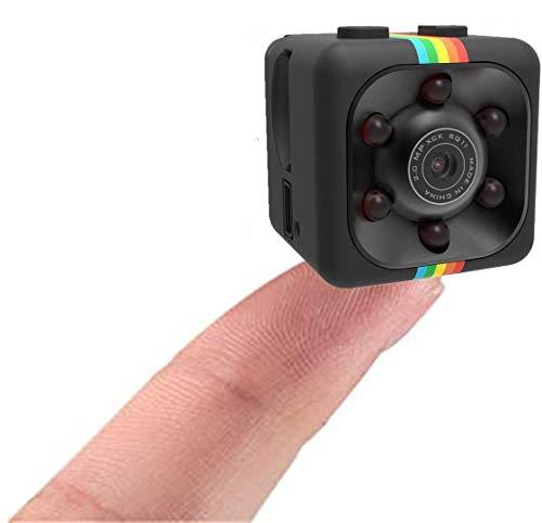 Original Tec-Digi Mini Spy Camera Secret Camera 1280P x 780P SQ11 Spy Camera with IR Night Vision & Motion Detection, Small Surveillance Camera for Home