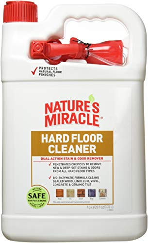 Nature#039s Miracle Hard Floor Cleaner Dual Action Stain and Odor Remover 128 Ounces  P96943