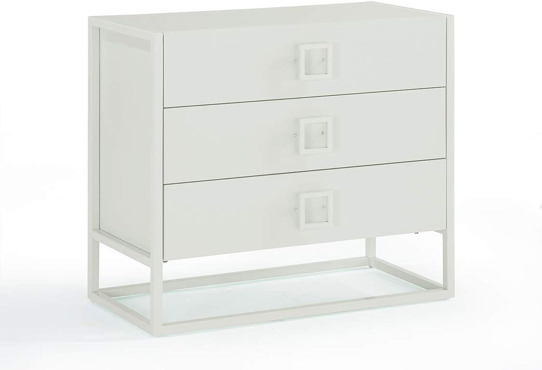 Now House by Jonathan Adler Vally 3 Drawer Dresser, White