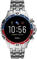 Fossil FTW4040 Men's Steel 316L Digital Quartz Watch, Multicolor