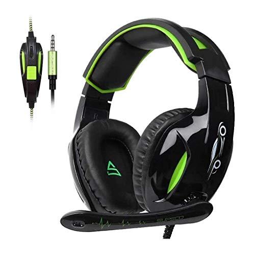 UNU_YAN Casques d'écoute de Jeu for Les contrôleurs PS4, Contour d'oreille antibruit Casques d'écoute de Jeu avec micros, Casque-supersoniques Casques d'écoute d'ordinateur