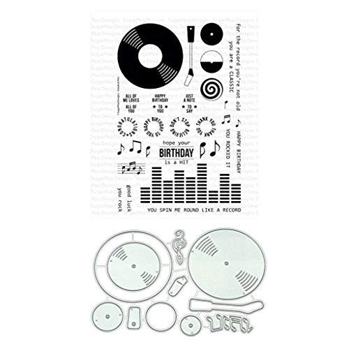 siwetg Música CD Troqueles De Corte De Metal Plantillas De Corte para DIY Scrapbooking Álbum De Fotos Tarjeta De Papel Manualidades Decorativos Relieve