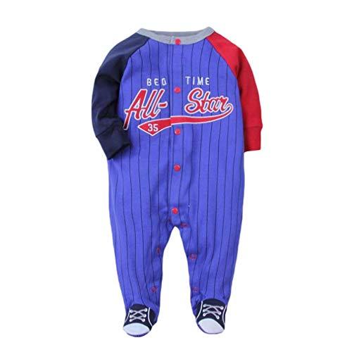 Mxssi Babyspielanzug Jungen Neugeborene Bebes Pyjamas Baseball Sport Style Kleinkinder Outdoor Kleidung Footed Baby Girl Romper