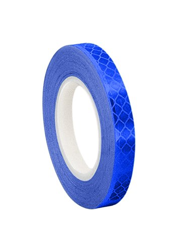 3M - 1/2-5-3435 3435 Blue Micro Prismatic Sheeting Reflective Tape, 0.5' x 5 yd (1 Roll)
