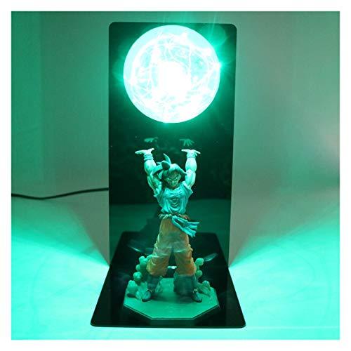 WDFDZSW Dragón B A L L L L ACCIÓN CARACTER DE ACCIÓN Goku Son Colección Estatua DIY Anime Modelo DBZ Ball LED Light Light NIÑOS Juego DE BABÉ (Color : Green)