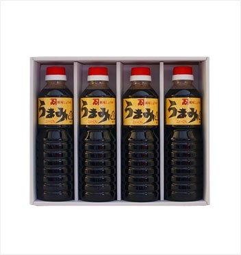 カネイ醤油 うまみ 500mlペットボトル こいくち4本セット[PT-340]