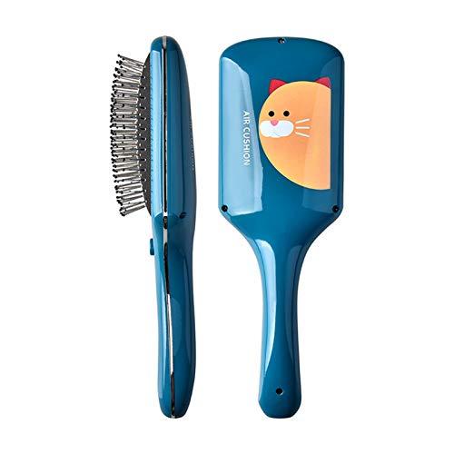 lefeindgdi Masajeador de cabeza de mano, peine eléctrico portátil de metal cuero cabelludo peine de masaje para modelar estilo para salón hogar