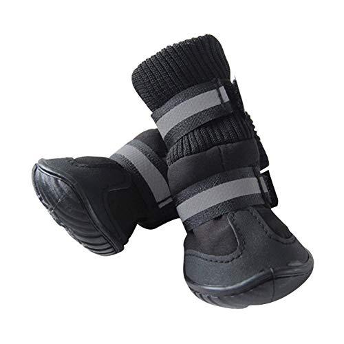 LANGING 1 Paar Huisdier Hond Katoen Sneakers Hoge Huisdier Laarzen Warm Anti Slip Hond Schoenen Zwart Skidproof Waterdichte Winter