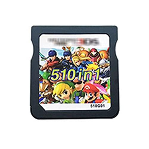 Homelus LINLIN 510 en 1 Tarjeta de Cartucho de Videojuegos de compilación Fit for Nintendo DS 3DS 2DS Super Combo Multi Cart Sally (Color : 510in1 Without Box)