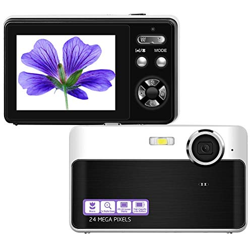 Digital Camera Mini Video Camera Point and Shoot Camera 2.4inch 24 MP HD Students Digital Camera for Kids Teenagers Beginners
