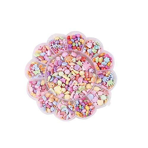 lulongyansf Pop Juega la joyería Broche Perlas Conjunto niños pequeños Creativo de DIY Que Hace la Pulsera del Collar y el Anillo de Juguetes educativos para niñas 1Ponga Estilo Sea World
