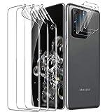 UniqueMe [3 Pack] Protector de Pantalla para Samsung Galaxy S20 Ultra 6.9 Pulgada + [3 Pack] Protector de Lente de Cámara paraSamsung Galaxy S20 Ultra, [Sin Burbujas] HD Film [Flexible]