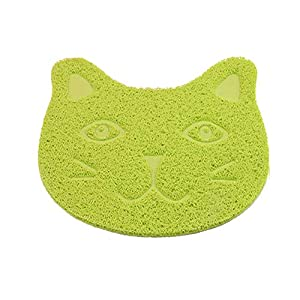 ANBET - Alfombrilla Antideslizante para comedero de Mascotas, diseño de Gato, de PVC, para Perros y Gatos (11.8 x 15.7 Pulgadas) 15