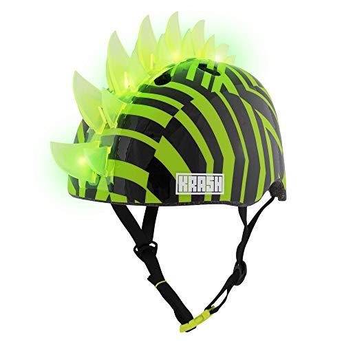 Krash! Dazzle Green LED Youth Mohawk Helmet, One Size, Model Number: 8052882
