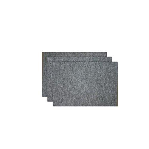 Glorex Bastelfilz (40 x 30 cm) grau, 4 mm dick, 3 Filzplatten