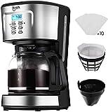 Coffee Machine, IKICH 12 Cup Coffee Maker, 24h Programmable Smart Drip Coffeemaker Coffee