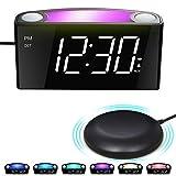 Mesqool Reloj Despertador de vibración Fuerte, Pantalla de 7' LED,...
