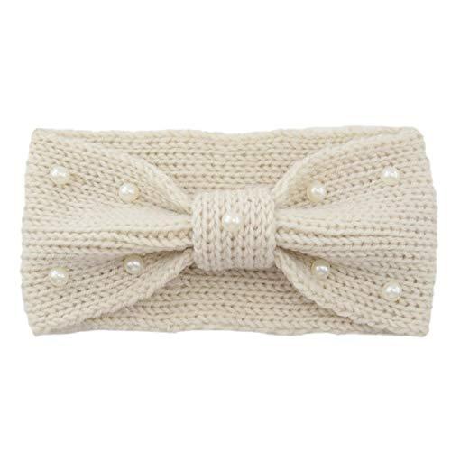 Hiver Plus Chaud Oreille Tricoté Bandeau Turban Pour Dame Femmes Crochet Arc Large Stretch Bandeau Bandeau Accessoires De Cheveux Pour Fille Beige