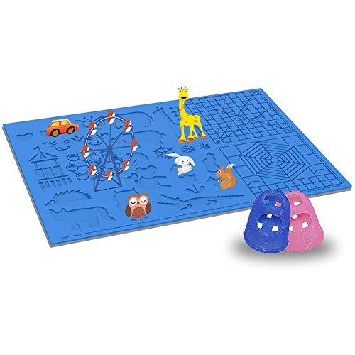 Apofly 3D Stift Vorlage, Silikon Pring Brett Stencils Buch Feder 3D DIY Vorlage Pad Zeichenwerkzeuge Blau