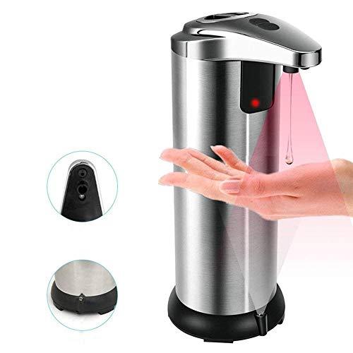 Dispenser di sapone automatico con sensore di movimento a infrarossi automatico in acciaio inox per bagno, kithcen e hotel