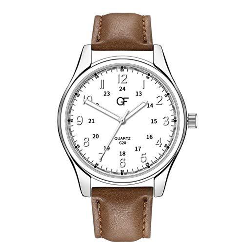 Armbanduhren Herren Quarzuhr,Evansamp Mann Uhren Quarz Analog Dial Watch Edelstahl Casual Armbanduhr(R)