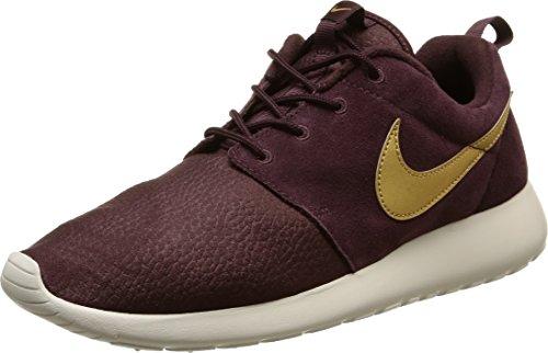 Nike Roshe One Suede, Scarpe Sportive, Uomo, Nero (Mahogany/Metallic Gold-Lght Bn), 44