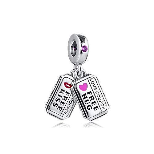 Pandora 925 Sterling Silver DIY Jewelry CharmGenuine amulets love cupon amulets para pulseras de cuentas para hacer joyas de perlas