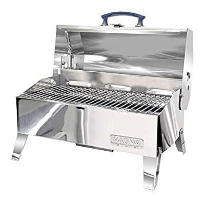 "New Cabo Adventurer Marine Series Charcoal Grill Magma A10-703c Cooking Area Primary - 9"" L x 18"" W 162 Sq. in."