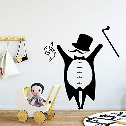 wZUN Pegatinas de Pared de Personajes extraíbles para niños Sala de Estar decoración del hogar Vinilo extraíble 33x36cm