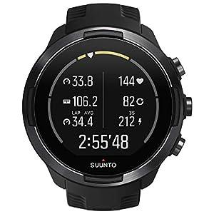 Suunto 9 Baro Reloj deportivo GPS con batería de larga duración y medición del ritmo cardiaco en la muñeca, Sin correa de pecho, Negro